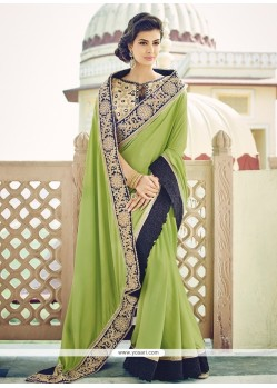 Engrossing Georgette Embroidered Work Designer Saree