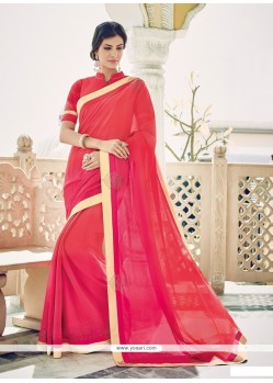 Fabulous Hot Pink Designer Saree