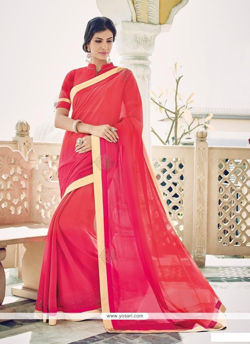 Fabulous Hot Pink Designer Saree