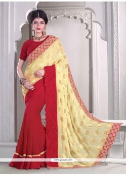 Perfervid Embroidered Work Classic Designer Saree