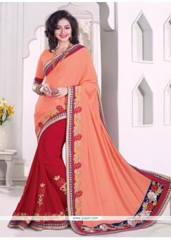 Alluring Red Classic Designer Saree