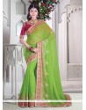 Tempting Green Classic Designer Saree