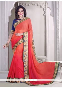 Artistic Patch Border Work Classic Designer Saree