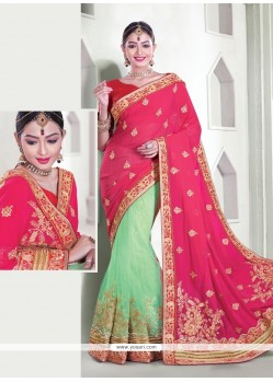 Talismanic Hot Pink Classic Designer Saree