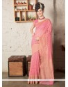 Voguish Zari Work Pink Designer Saree