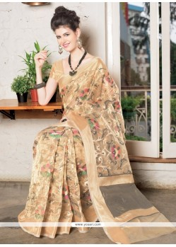 Glorious Tissue Zari Work Designer Saree