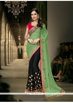 Perfervid Georgette Embroidered Work Designer Saree