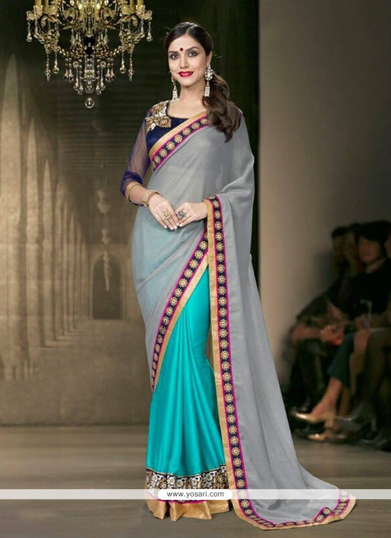 Charming Faux Chiffon Designer Saree