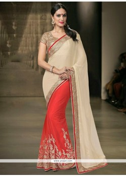 Sightly Net Red Designer Saree
