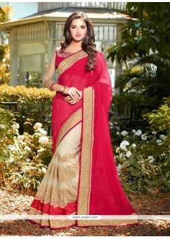 Majestic Hot Pink Classic Designer Saree
