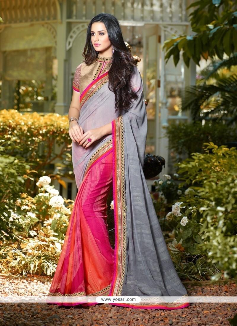 Irresistible Brasso Multi Colour Classic Designer Saree