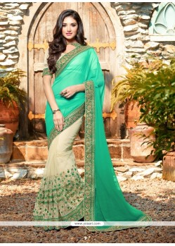 Phenomenal Embroidered Work Net Classic Designer Saree