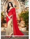 Sumptuous Georgette Red Classic Designer Saree