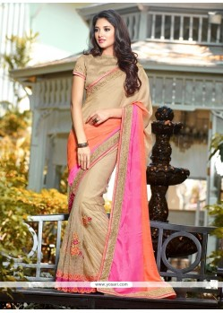 Irresistible Net Multi Colour Classic Designer Saree