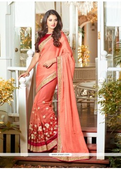 Modest Orange Classic Designer Saree