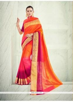 Fascinating Multi Colour Banarasi Silk Designer Saree
