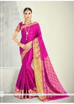 Thrilling Magenta Designer Saree