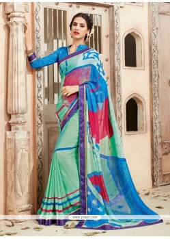 Eye-catchy Georgette Multi Colour Print Work Casual Saree