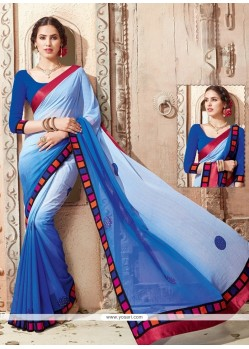 Mystical Georgette Print Work Casual Saree