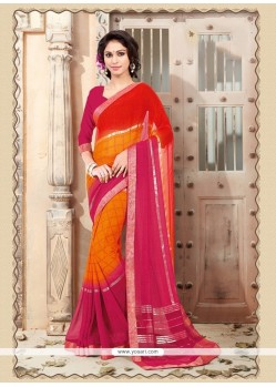 Swanky Georgette Multi Colour Casual Saree
