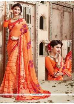 Fetching Print Work Casual Saree