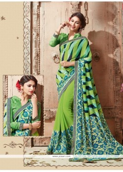 Enthralling Georgette Multi Colour Casual Saree