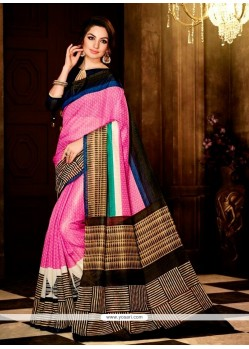 Talismanic Handloom Silk Pink Casual Saree