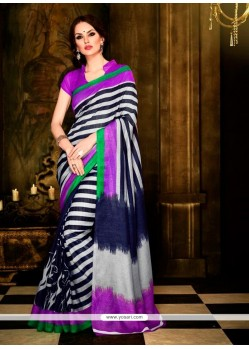 Angelic Handloom Silk Multi Colour Casual Saree
