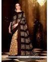 Voluptuous Multi Colour Print Work Handloom Silk Casual Saree
