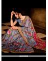 Festal Handloom Silk Multi Colour Print Work Casual Saree