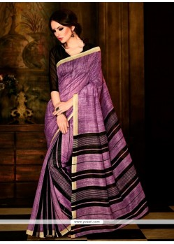 Spellbinding Multi Colour Handloom Silk Casual Saree