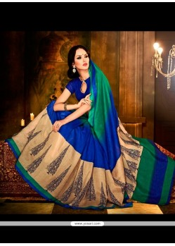 Simplistic Handloom Silk Multi Colour Print Work Casual Saree
