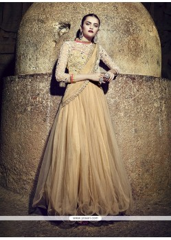 Scintillating Net Embroidered Work Designer Gown