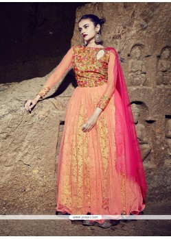 Talismanic Georgette Embroidered Work Designer Gown