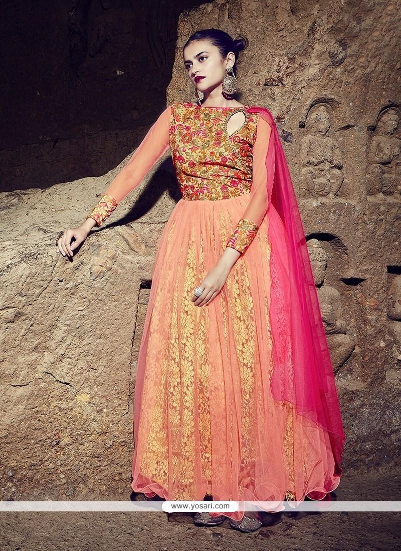 Talismanic Georgette Embroidered Work Designer Gown