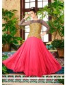 Bewitching Faux Georgette Embroidered Work Designer Gown