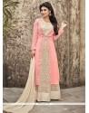 Impressive Pink Anarkali Salwar Suit
