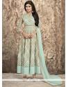 Congenial Print Work Anarkali Salwar Suit