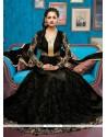 Beckoning Net Black Anarkali Salwar Suit