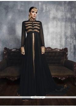 Best Embroidered Work Black Georgette Designer Suit