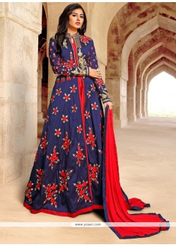 Pretty Patch Border Work Anarkali Salwar Kameez