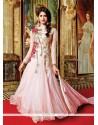 Absorbing Pink Anarkali Salwar Kameez