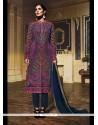 Scintillating Georgette Multi Colour Designer Suit