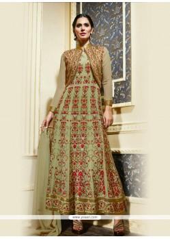 Exquisite Resham Work Anarkali Salwar Kameez