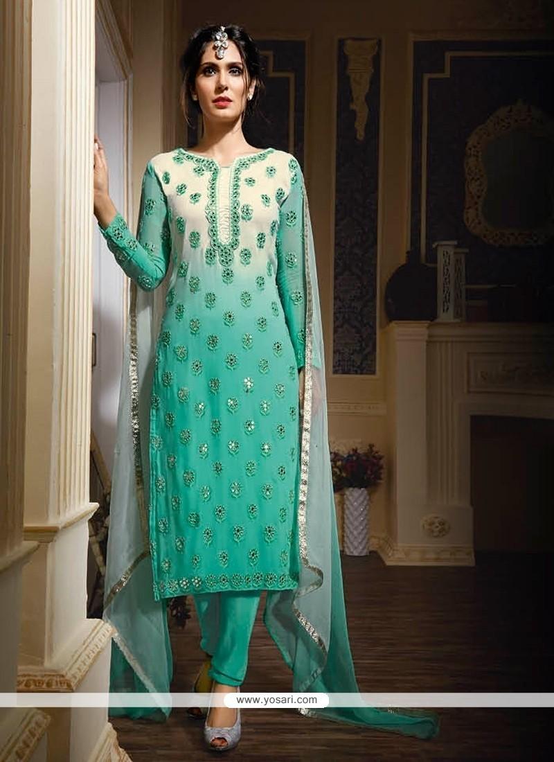 Energetic Georgette Designer Suit