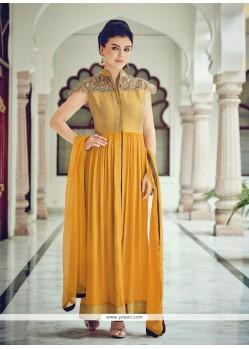 Aristocratic Embroidered Work Cotton Silk Designer Suit