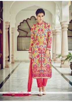 Nice Embroidered Work Cotton Silk Designer Suit