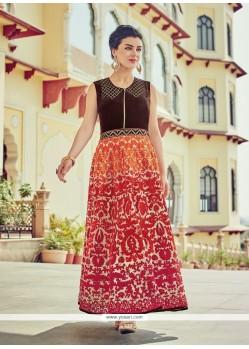 Subtle Multi Colour Embroidered Work Cotton Silk Designer Suit