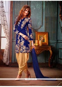 Alluring Blue Resham Work Designer Suit