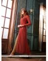 Absorbing Maroon Embroidered Work Designer Suit